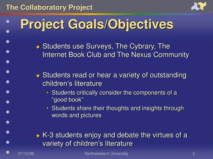 Project goals objectives