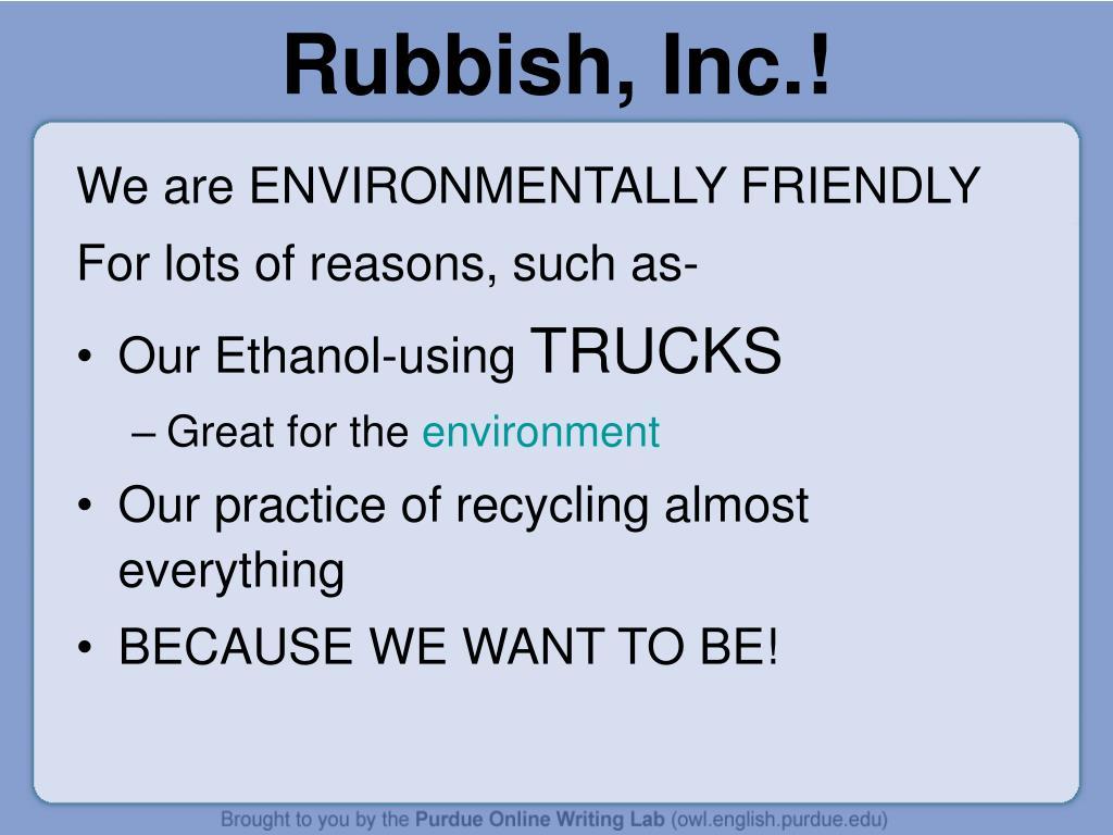 Rubbish, Inc.!