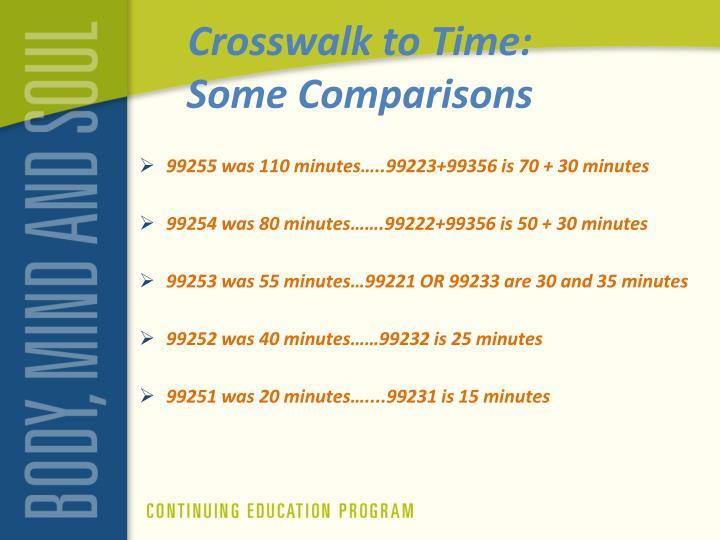 Crosswalk to Time: