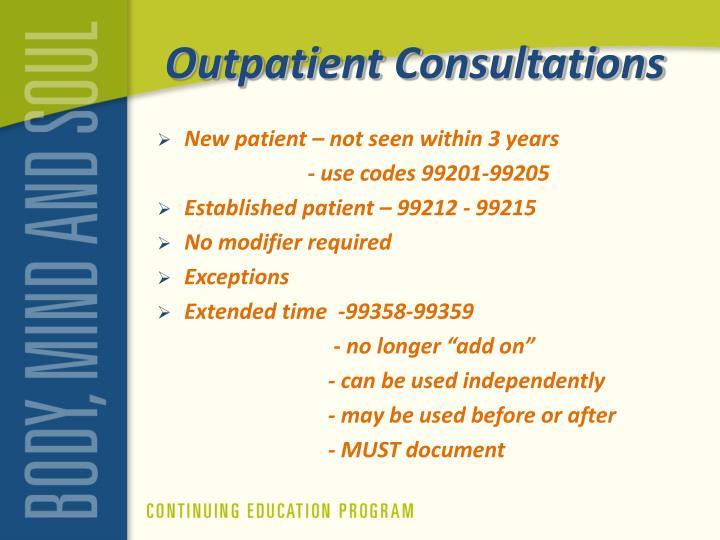 Outpatient Consultations