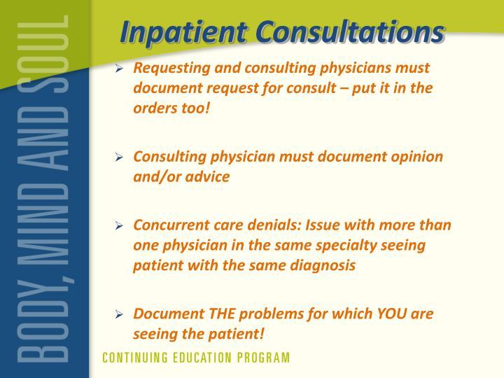 Inpatient Consultations