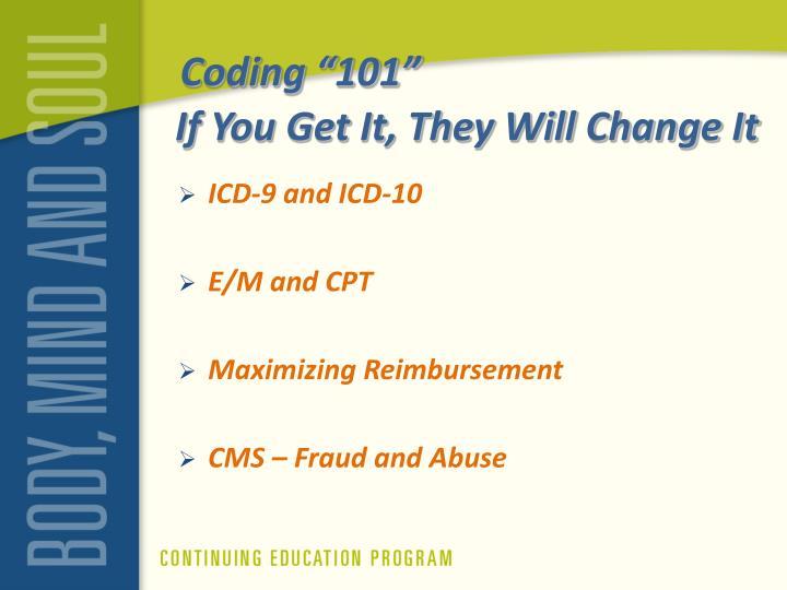 "Coding ""101"""