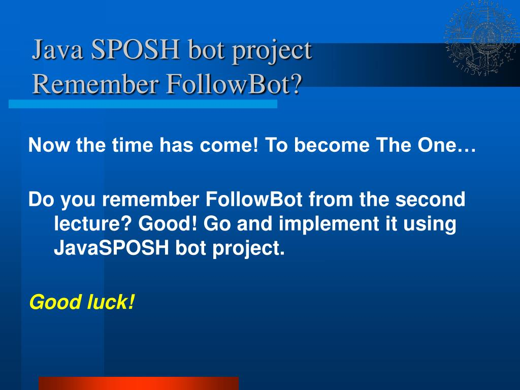 Java SPOSH bot project