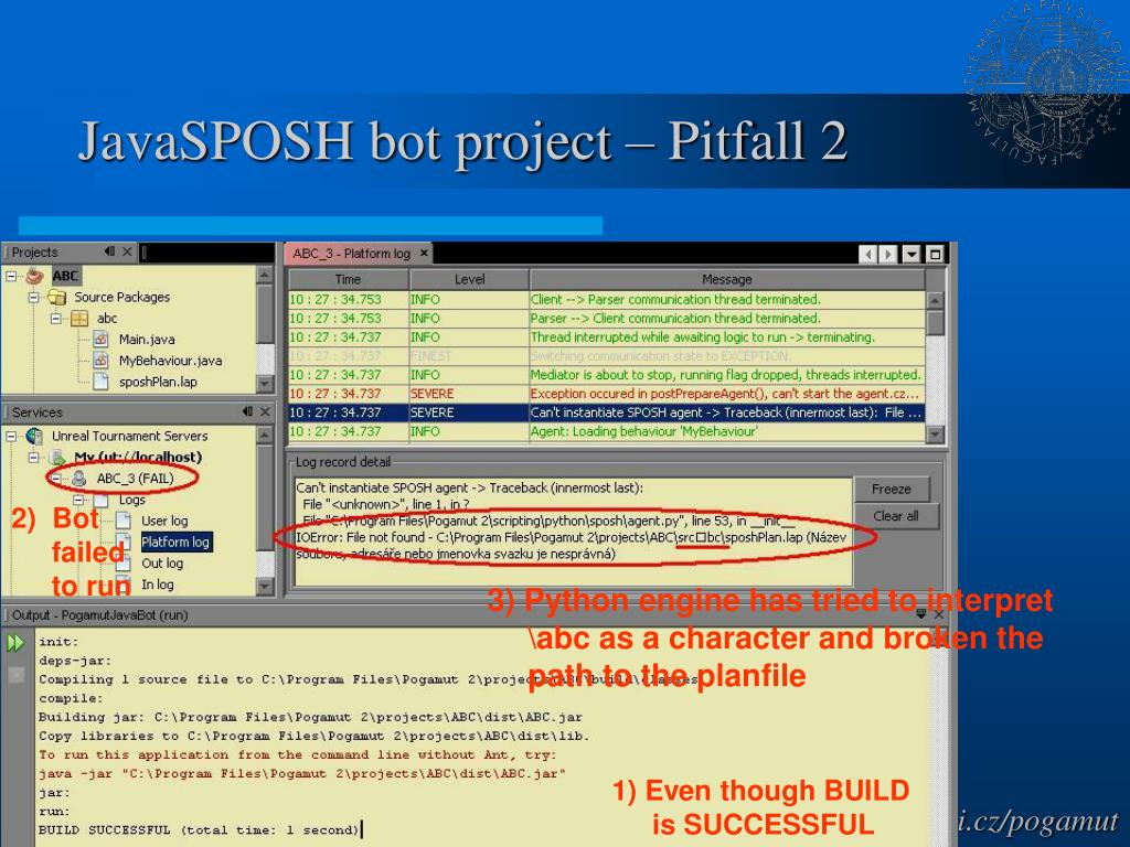 JavaSPOSH bot project – Pitfall 2