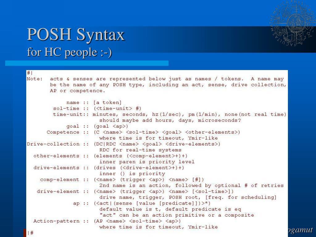 POSH Syntax