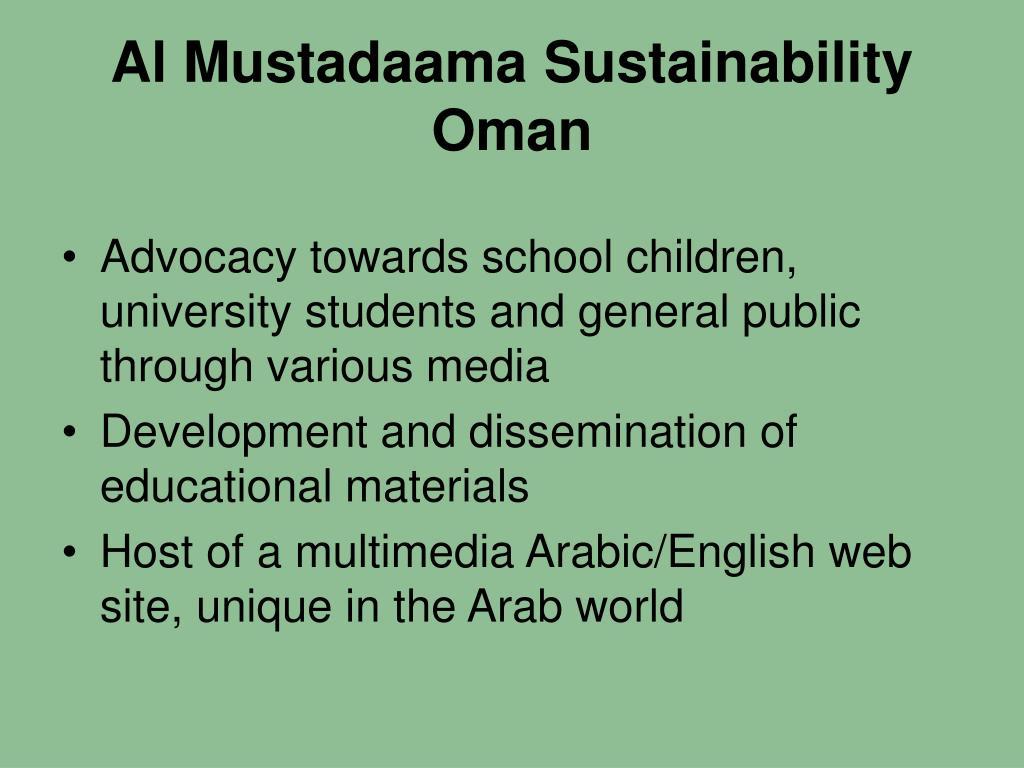 Al Mustadaama Sustainability
