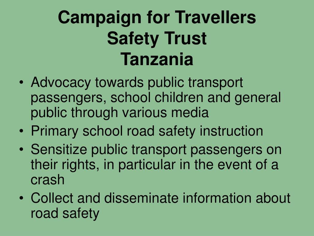Campaign for Travellers