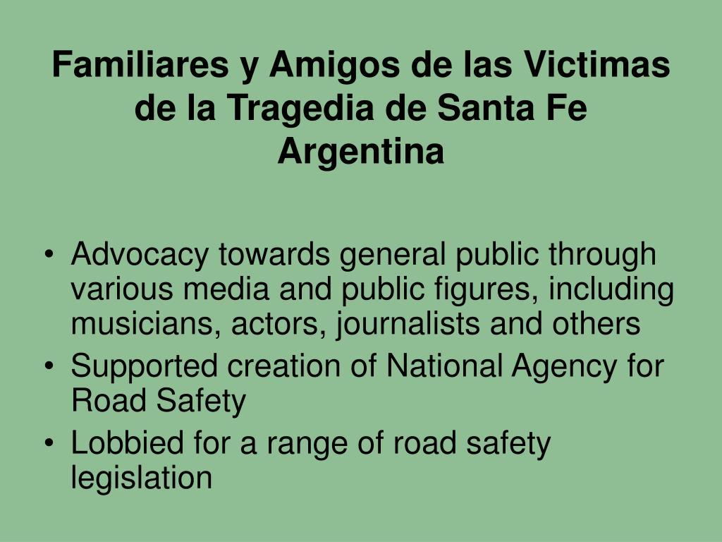 Familiares y Amigos de las Victimas de la Tragedia de Santa Fe