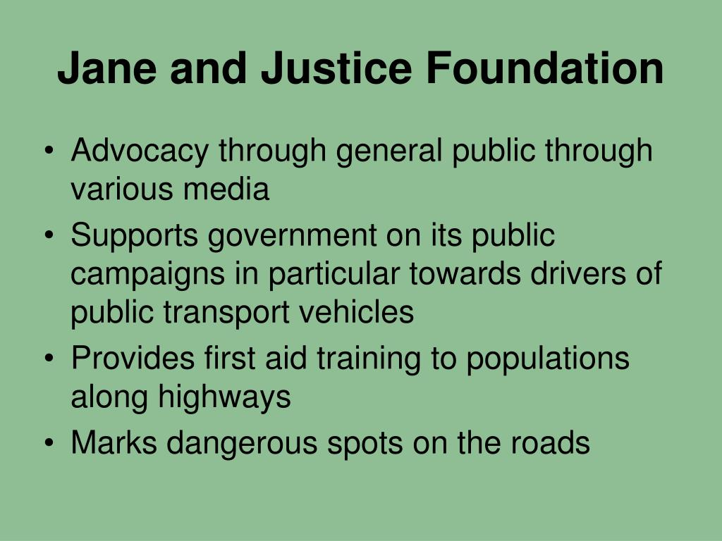 Jane and Justice Foundation
