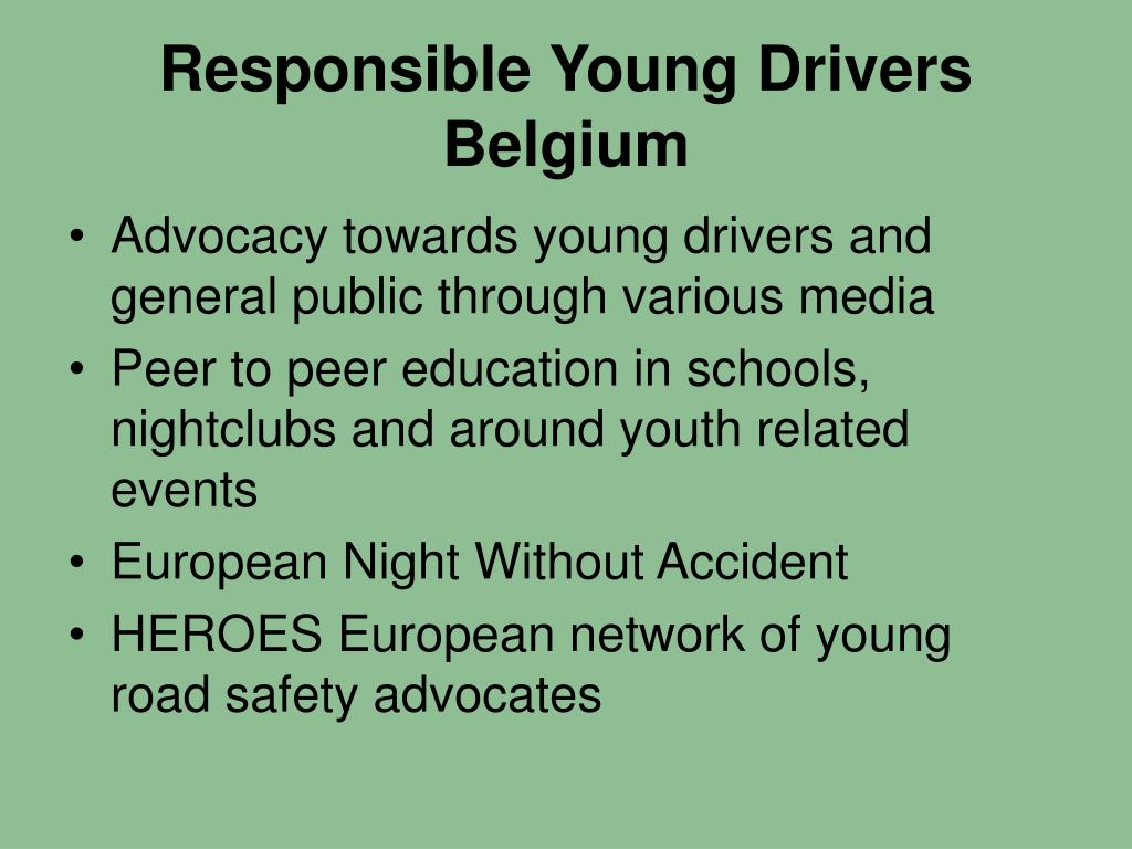 Responsible Young Drivers