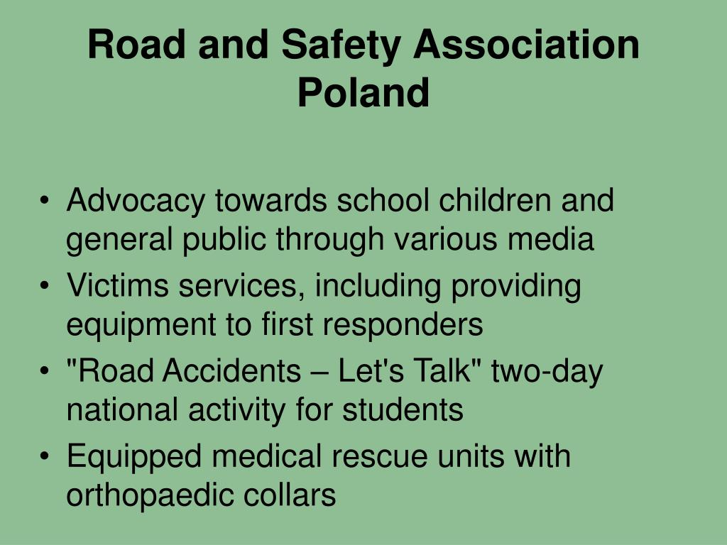 Road and Safety Association