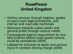 roadpeace united kingdom