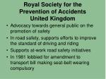 royal society for the prevention of accidents united kingdom