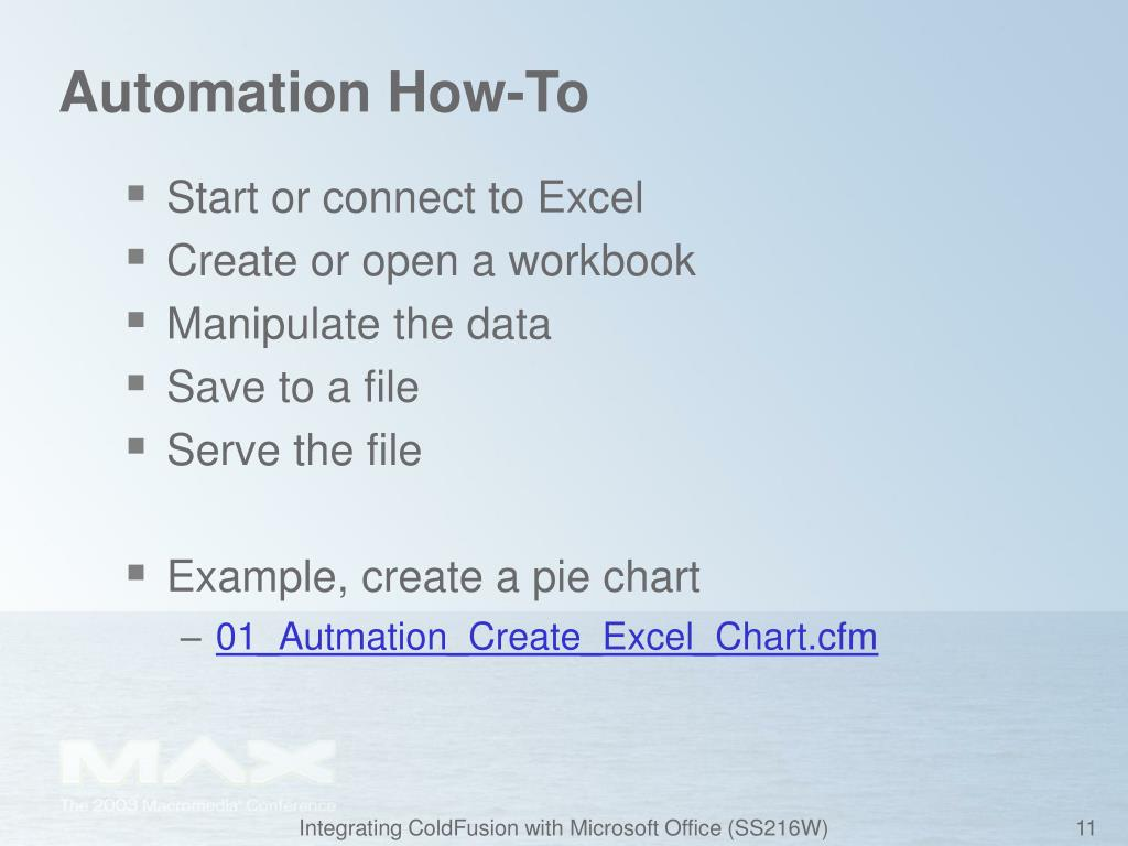 Automation How-To
