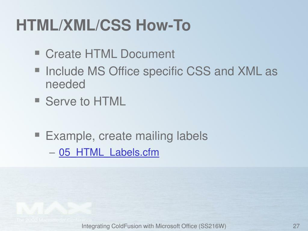 HTML/XML/CSS How-To