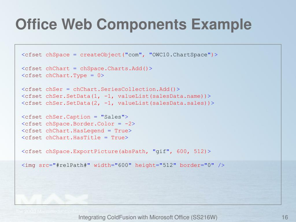 Office Web Components Example