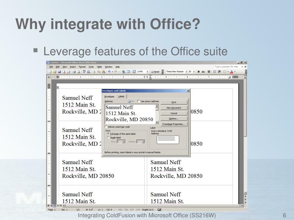 Why integrate with Office?