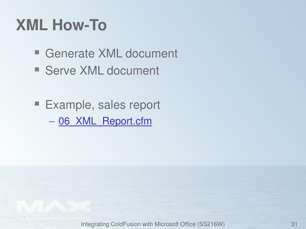 XML How-To