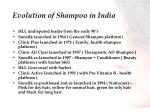 evolution of shampoo in india