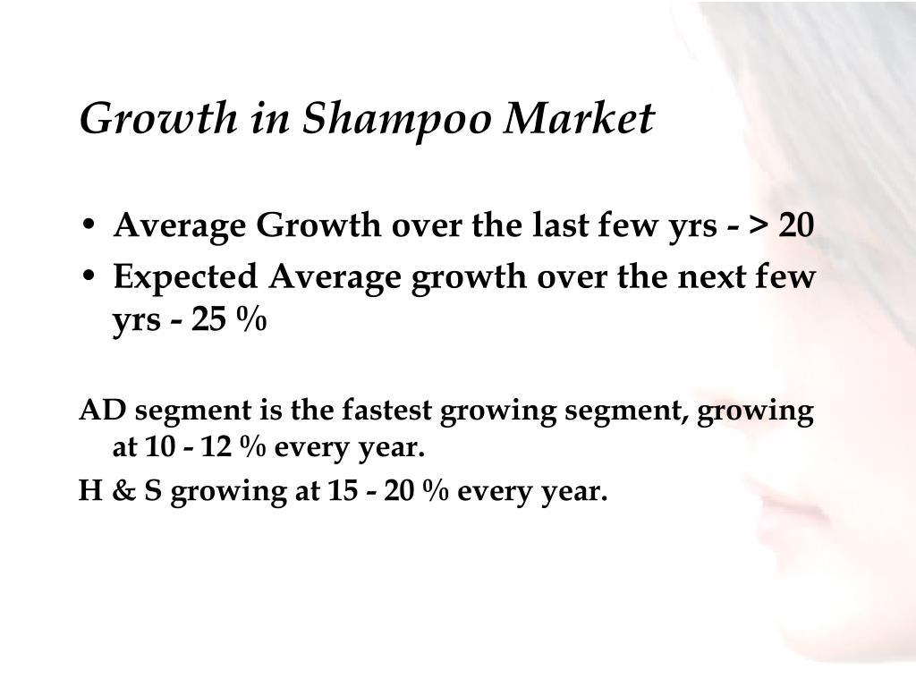 Growth in Shampoo Market