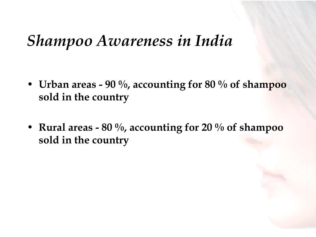 Shampoo Awareness in India