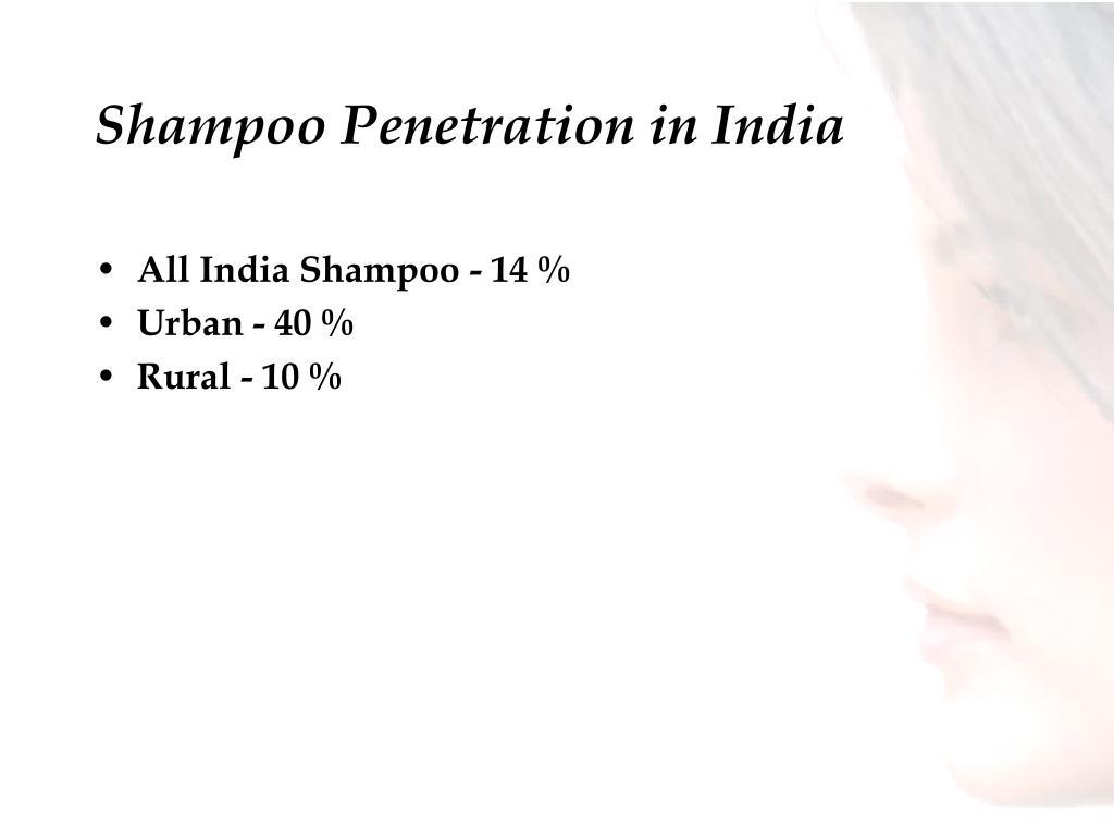 Shampoo Penetration in India