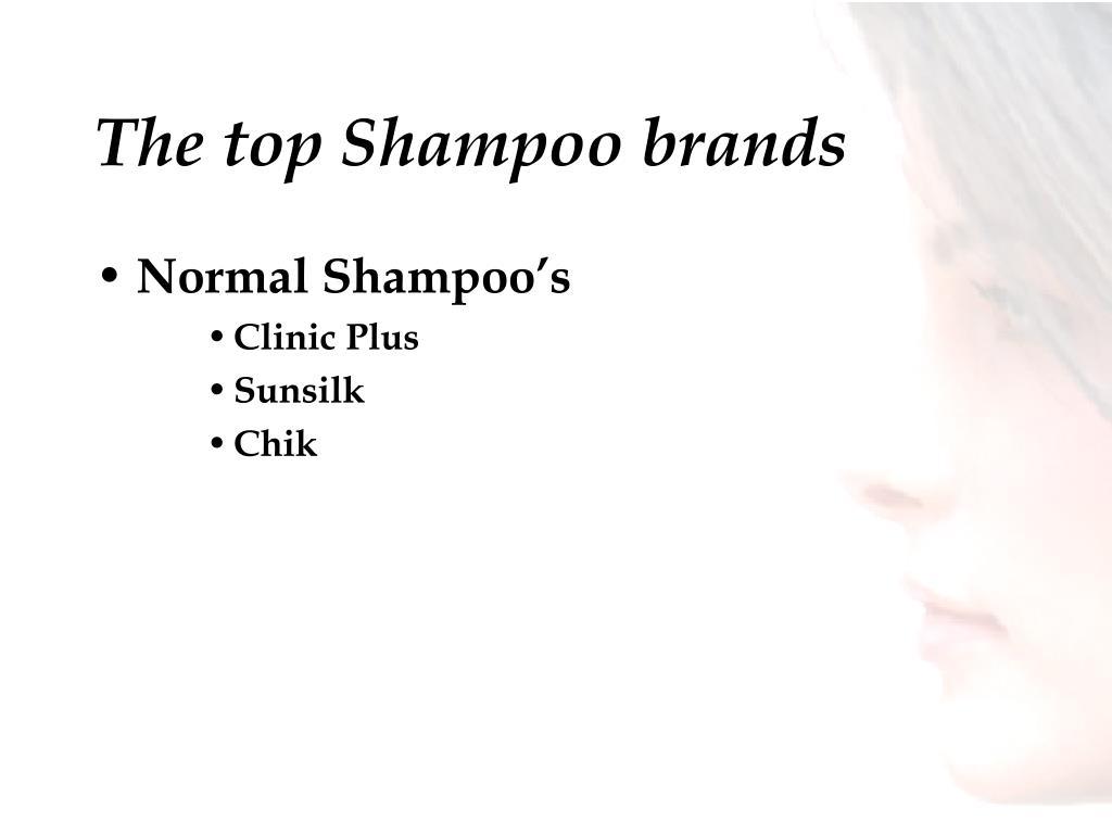 The top Shampoo brands