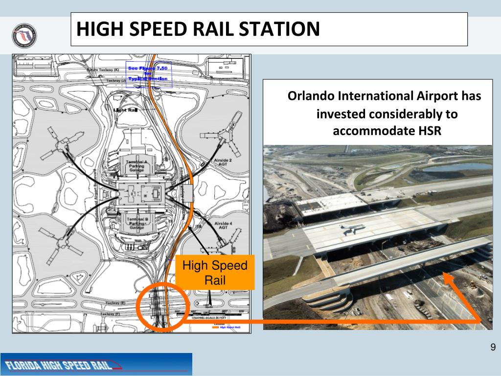 Orlando International Airport has invested considerably to accommodate HSR