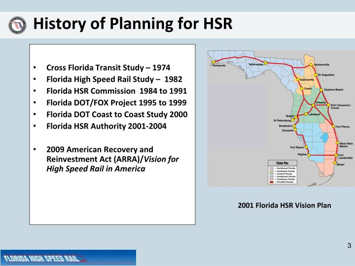 History of planning for hsr