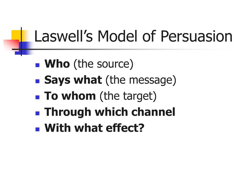 Laswell's Model of Persuasion