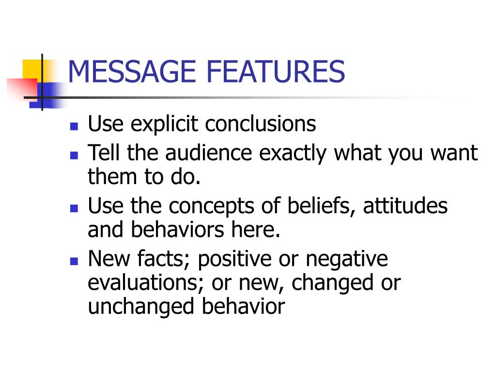 MESSAGE FEATURES
