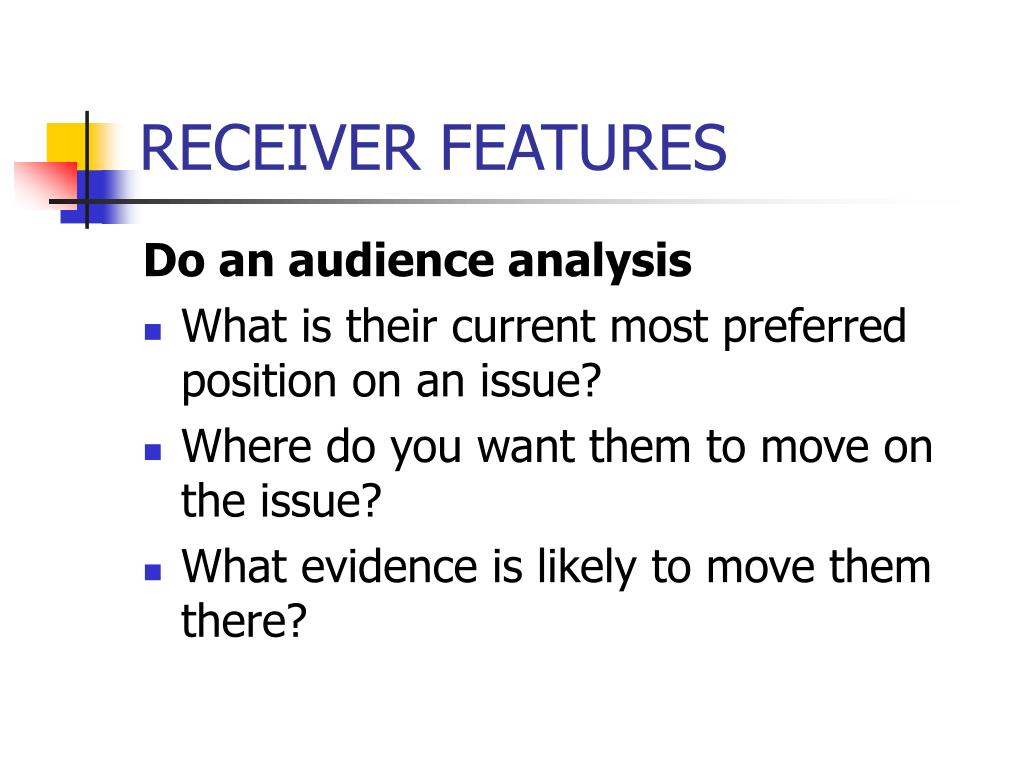 RECEIVER FEATURES