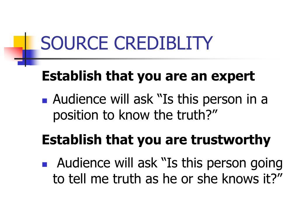 SOURCE CREDIBLITY
