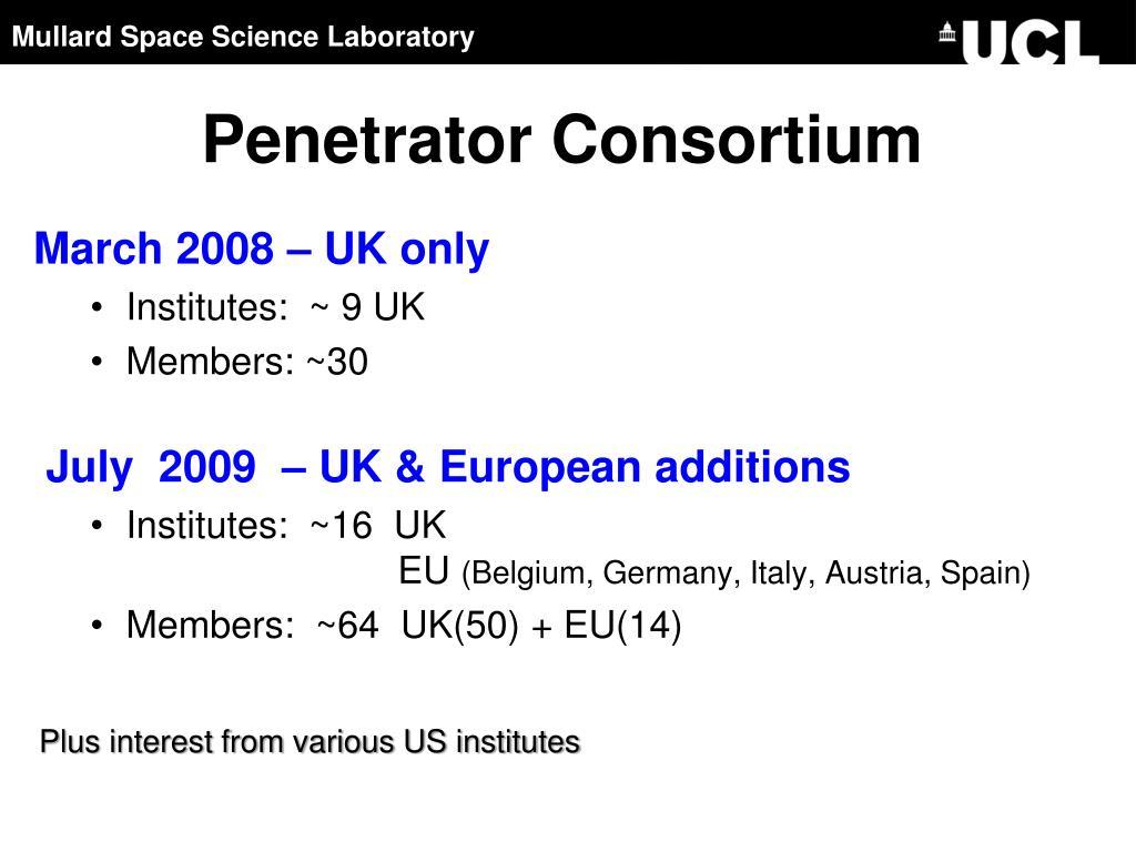 Penetrator Consortium
