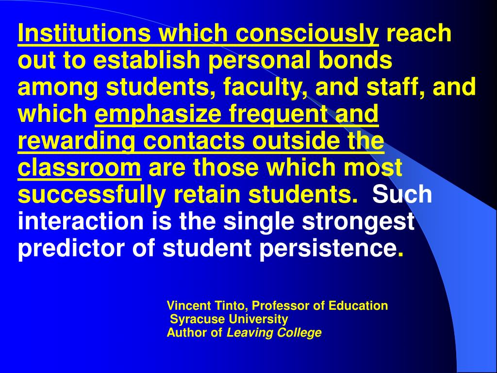 Institutions which consciously
