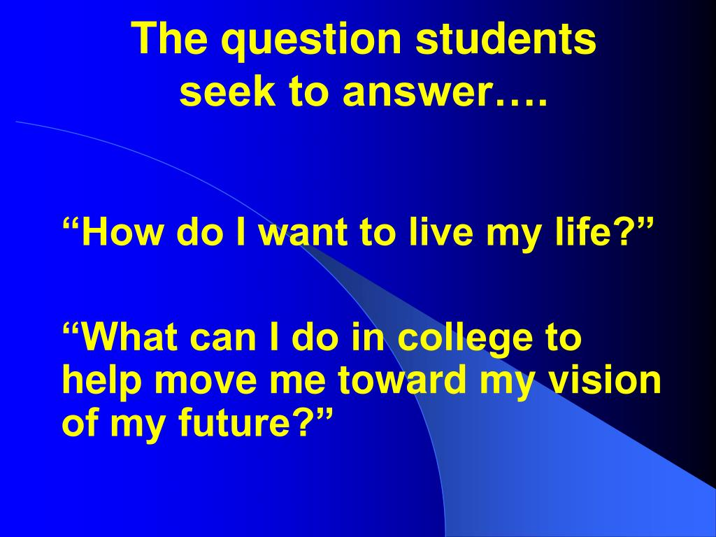 The question students