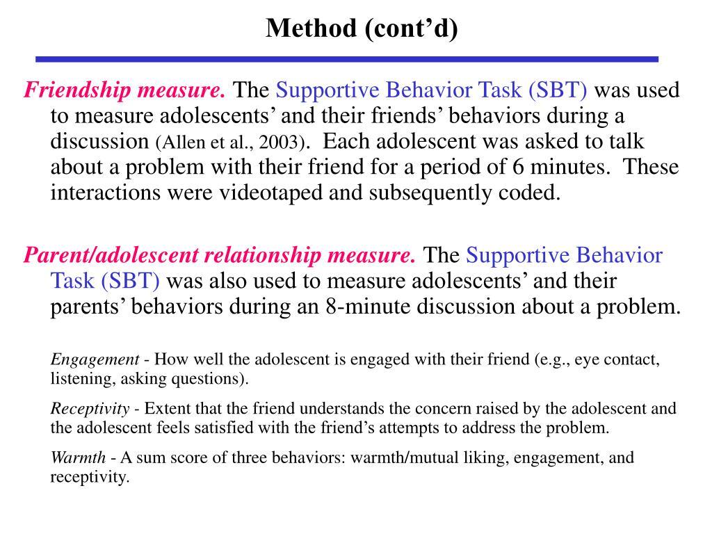 Method (cont'd)