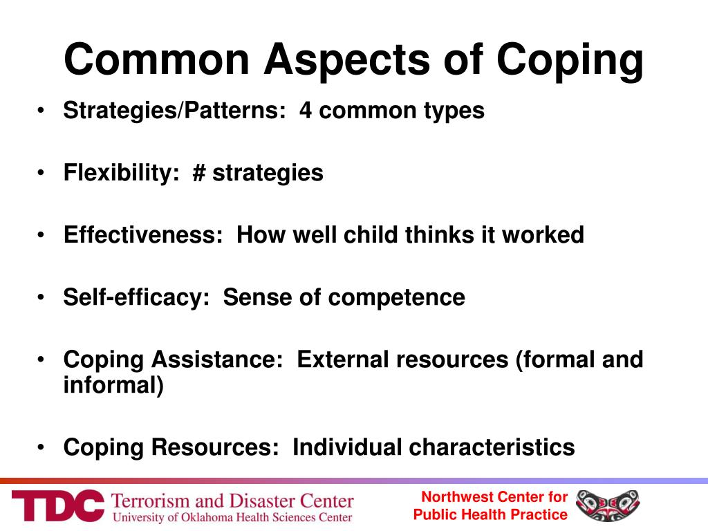 common problems and coping strategies of These coping strategies interfere with the person's ability to unlearn  a common third category of coping, along with problem-focused and emotion-focused coping.
