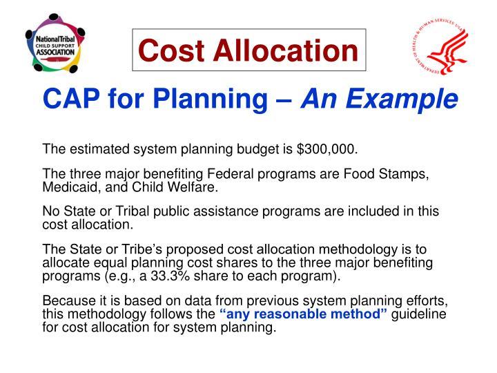CAP for Planning –