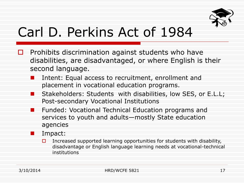 Carl D. Perkins Act of 1984