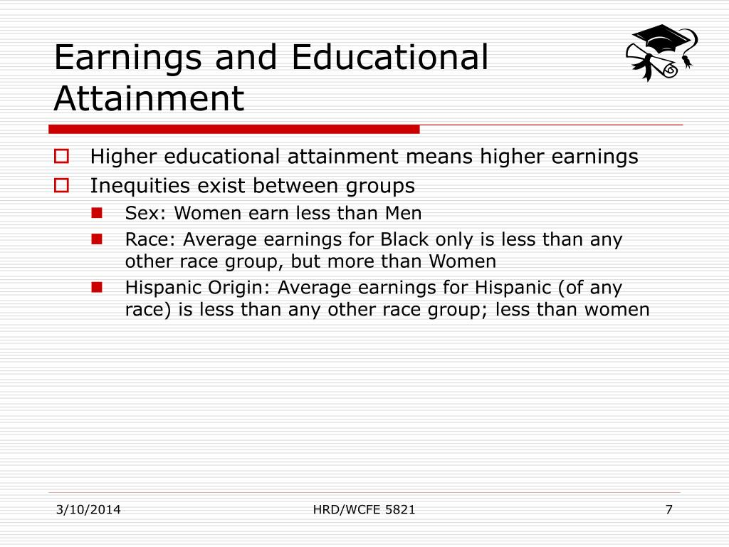 Earnings and Educational Attainment
