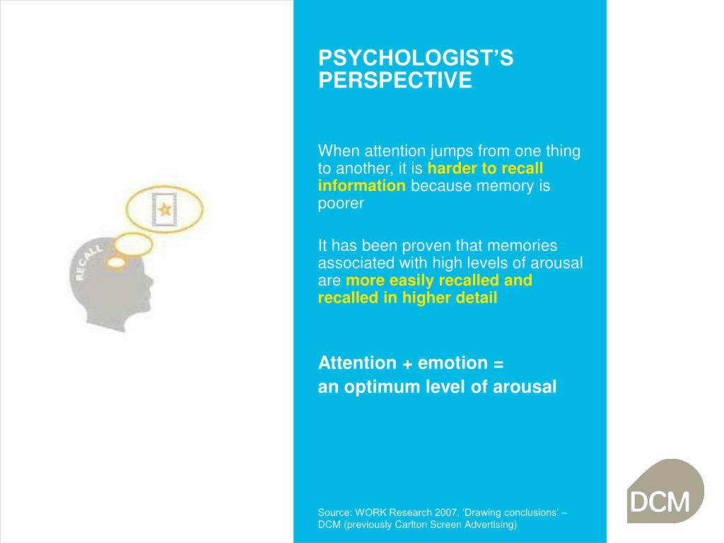 PSYCHOLOGIST'S PERSPECTIVE