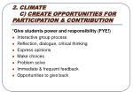 2 climate c create opportunities for participation contribution
