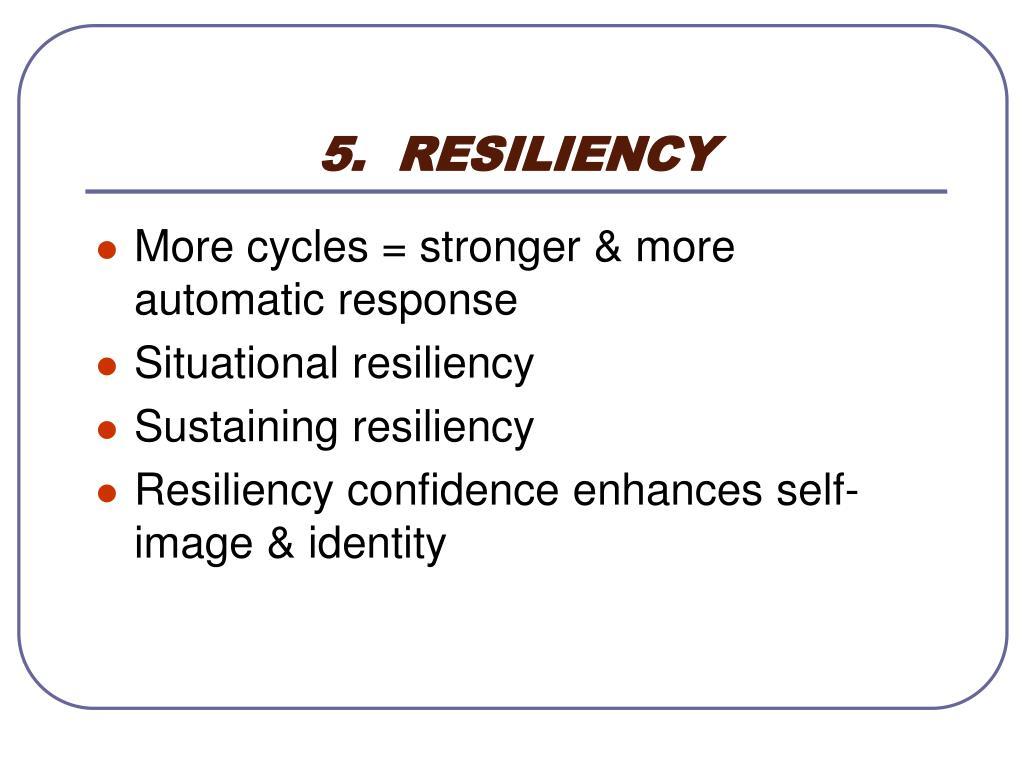 5.  RESILIENCY