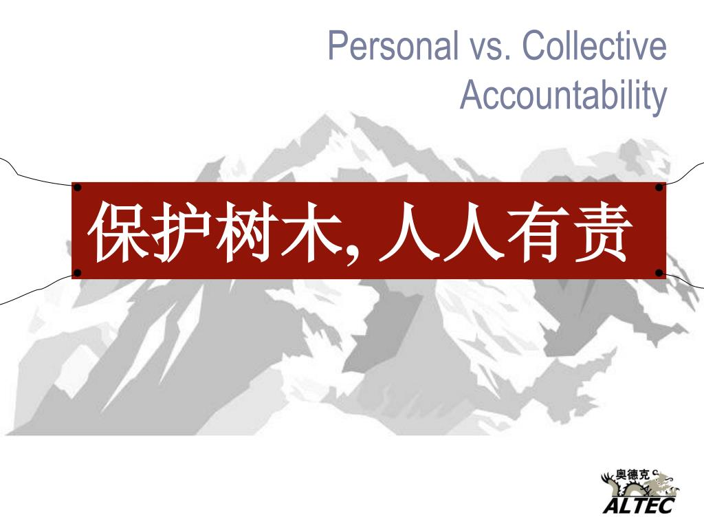 Personal vs. Collective Accountability