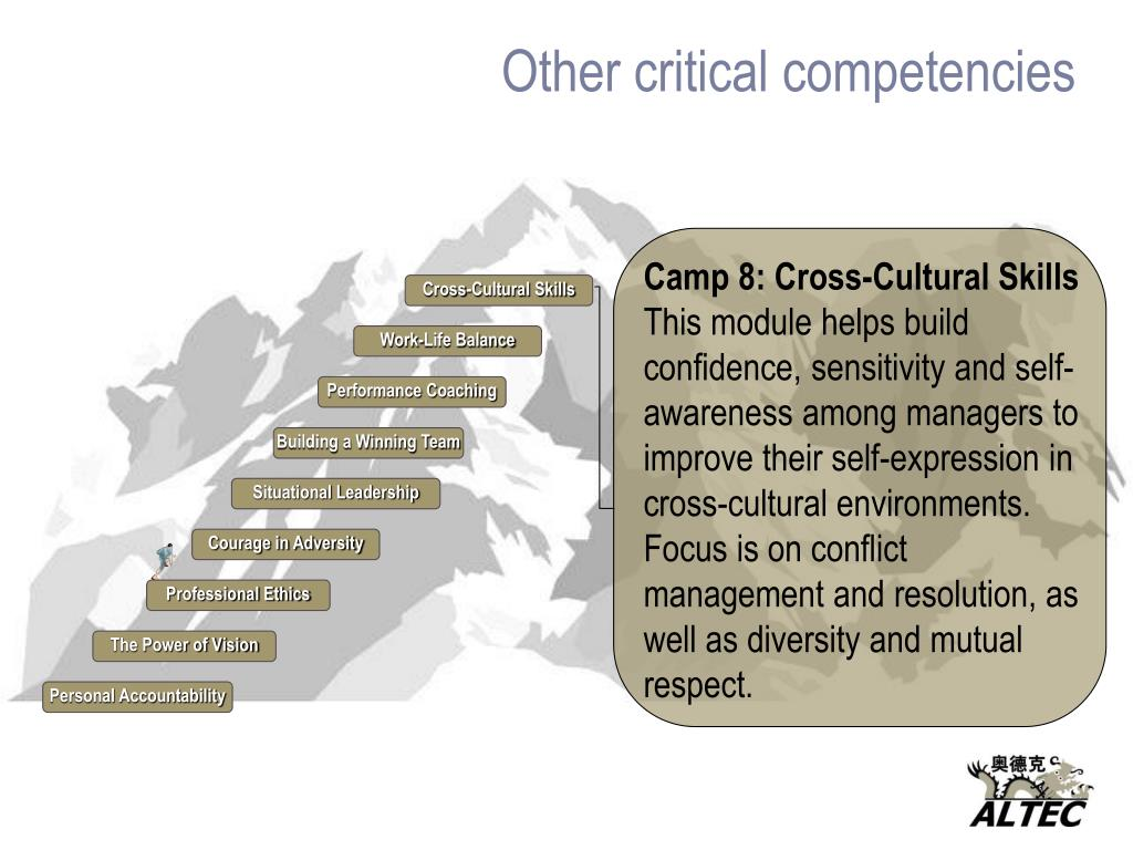 Other critical competencies