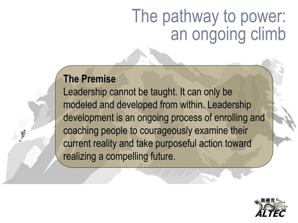 The pathway to power: an ongoing climb