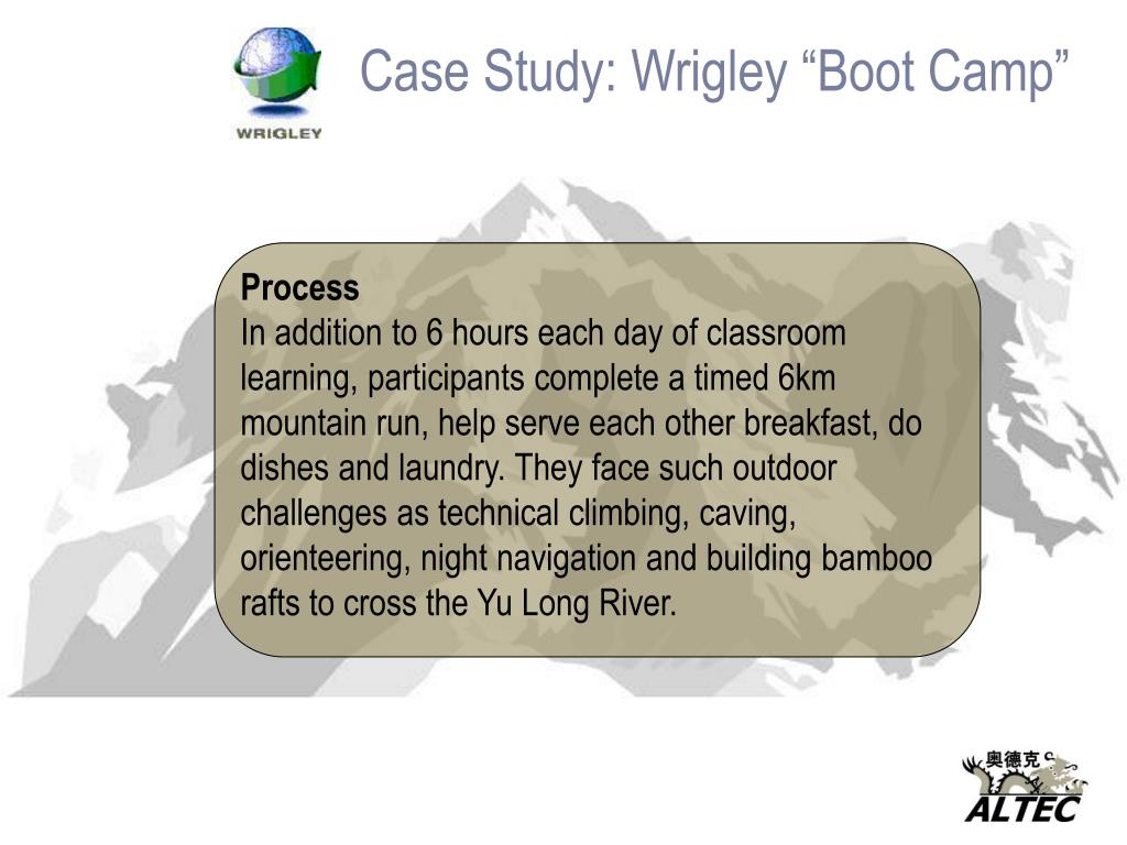 """Case Study: Wrigley """"Boot Camp"""""""