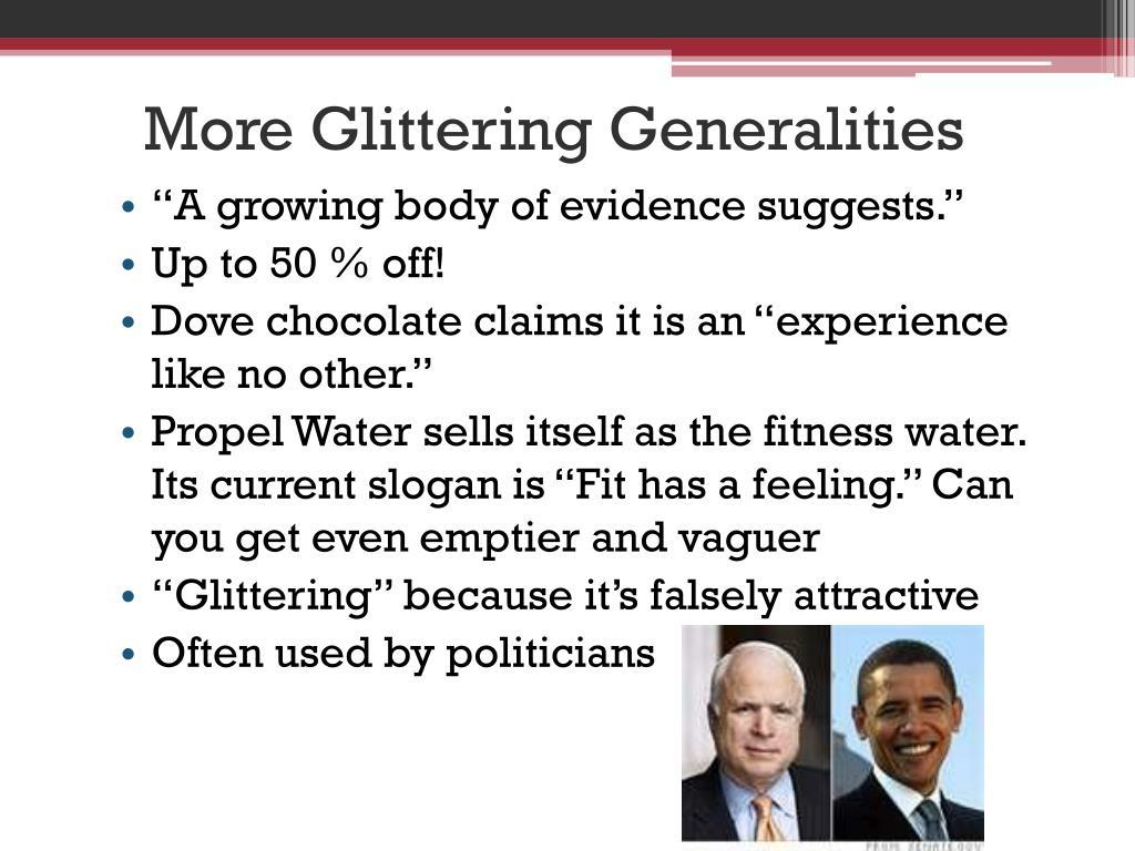 More Glittering Generalities
