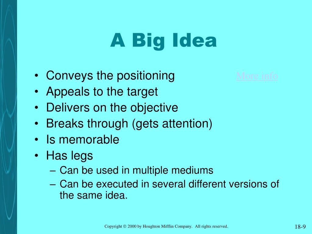 A Big Idea